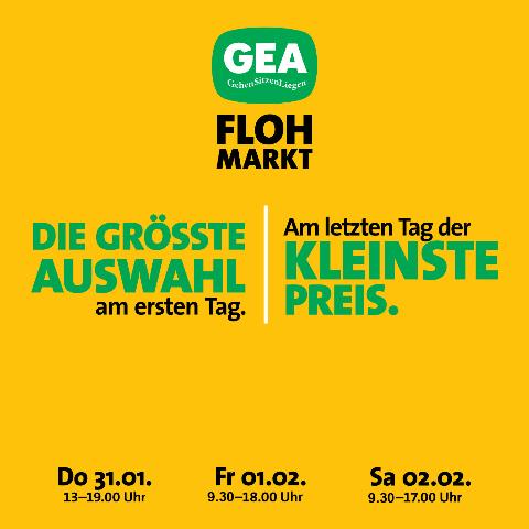 Es ist wieder soweit: GEA Flohmarkt von 31. Jänner bis 02. Februar!